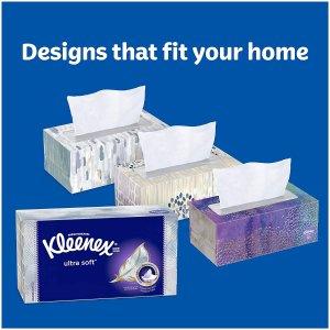 $6.98 (原价$7.99) 每抽仅$0.01Kleenex 柔软面巾纸 70抽x6盒 日常必囤口碑好物