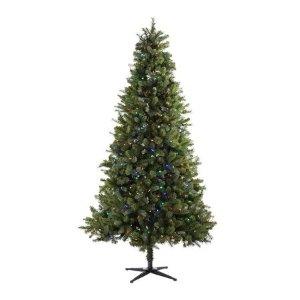 $68黒五价:7.5英尺预照明诺威奇云杉圣诞树含350颗变色灯