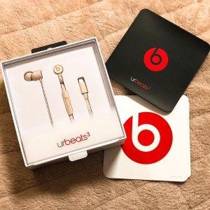 现价 £69(原价£89.95)Beats urBeats3 Lightning 接口入耳式耳机(三色可选)