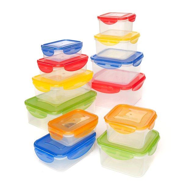 塑料保鲜盒 24件装