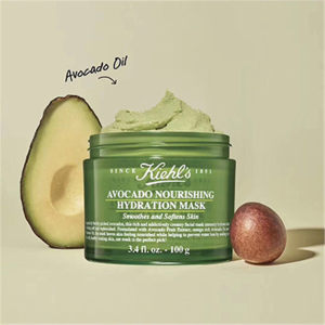 Kiehl's丰润保湿,修护肌肤屏障功能新品牛油果保湿面膜100g