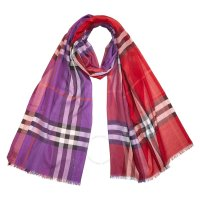 Burberry 羊毛真丝混纺围巾