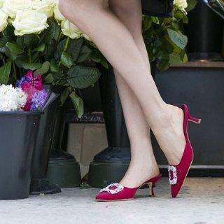 最高立减$275 变相7.25折Manolo Blahnik 美鞋专场 好价入手经典钻扣鞋