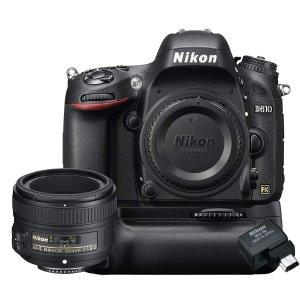 $1199(原价$2699)Nikon D610+50mm+电池手柄+无线适配器 节日套装