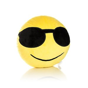 Yuka Smiling Face With Sunglasses Pillow