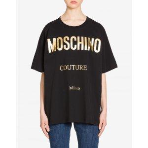 Moschino黑色logoT恤
