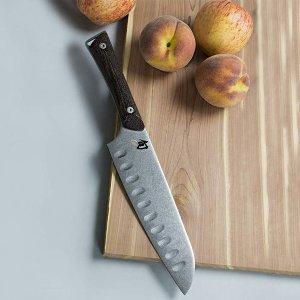 $74.95($114.95)Shun Kanso Santoku, 7 Inch Hollow Ground Kitchen Knife