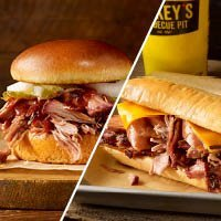 Only $3Dickey's Barbecue Pit Discount Pulled Pork Sandwich
