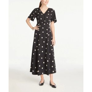 Ann TaylorDotted Button Midi Dress