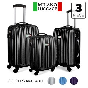 $99.95 (原价$399)史低价:Milano Deluxe 高级防震硬壳行李箱 3件套