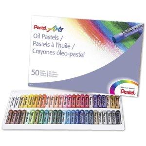 $4.66Pentel Arts Oil Pastels, 50 Color Set (PHN-50)