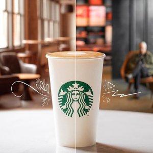 拿铁或玛奇朵 5折限今天:星巴克 Happy Hour 咖啡饮品限时活动