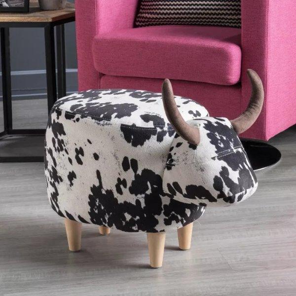 花花牛抬脚凳