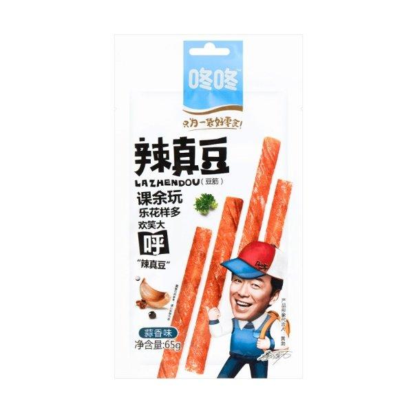 咚咚 辣真豆 豆筋 蒜香味 65g