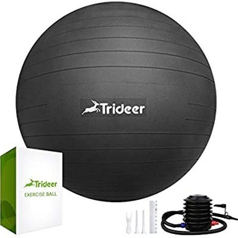 Trideer Exercise Ball (58-65cm) Extra Thick Yoga Ball Chair