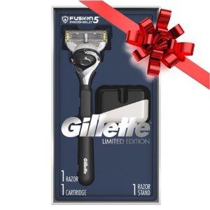 再降 $9.94 (原价$29.99)吉列限量版Fusion5系列 ProShield剃须刀礼盒