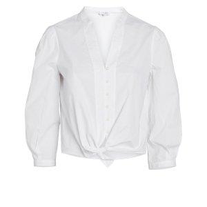 IntermixViolet Cotton Poplin Top
