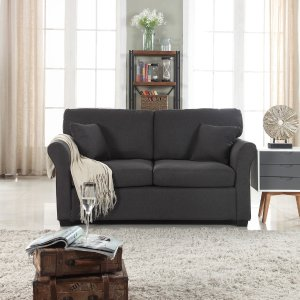 HouzzTraditional Ultra Comfortable Linen Fabric Loveseat - Transitional - Loveseats - by SofaMania