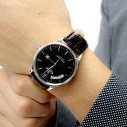 $315Edox Men's Les Vauberts Day Date Automatic Watch 83010-3N-NIN