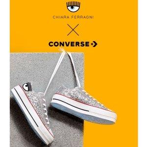 新品登录 + 无门槛包邮Converse x Chiara Ferragni合作款登录 可爱的大眼睛等你来