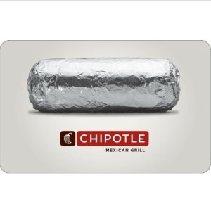 Only $10Buy a $15 Chipotle Gift Card @ ebay