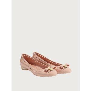Salvatore Ferragamo花朵跟芭蕾舞鞋
