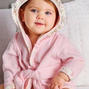 $13.60(原价$34) 包邮包退折扣升级:Little Me 婴儿连帽浴袍促销 软萌可爱,三款可选