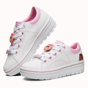 $38.41 (原价$90) 5/5.5码Skechers STREET CLEATS 2 布朗熊妹妹女士厚底鞋
