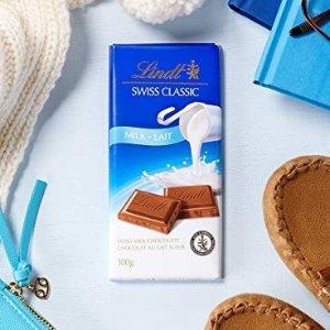 官网$3.69Lindt Swiss 经典牛奶巧克力