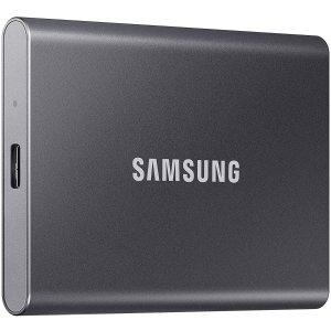 $189.99(原价$214.99)史低价:Samsung 1TB T7 1050MB/s 移动固态硬盘 三色可选