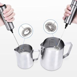 $15.95(原价$22.99)手持奶泡器 小巧便携 双替换头 在家自制咖啡拉花