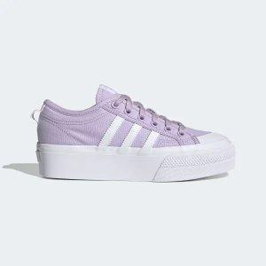 Adidas香芋紫好看!Nizza 厚底女鞋