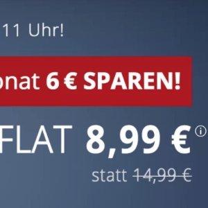 月租€8.99 代号入网送10欧每月减免€8  包月电话/短信+6GB高速流量+欧盟漫游