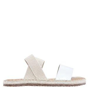 MINX-WHITE PATENT/LINEN 凉鞋