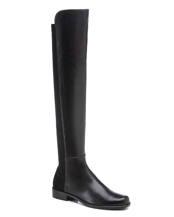 Leather 5050 过膝靴