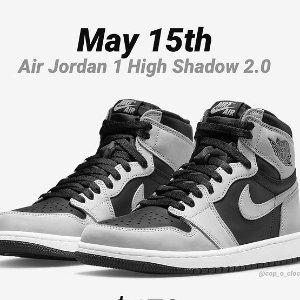5月15日发售 定价£139.95Air Jordan 1 最新配色「Shadow 2.0」即将上线