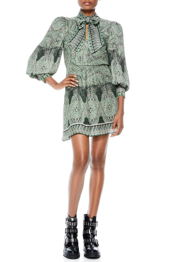 Tanisha Paisley印花裙