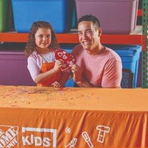 制作 情人节心形糖盒预告:2月 Home Depot 免费的儿童手工活动