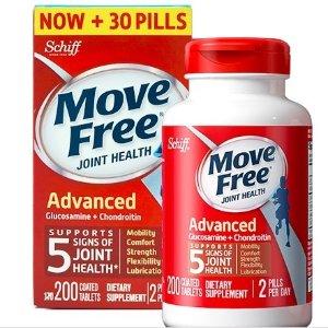 折后¥309含税包邮Schiff MoveFree 氨糖软骨素红瓶200粒*2瓶装