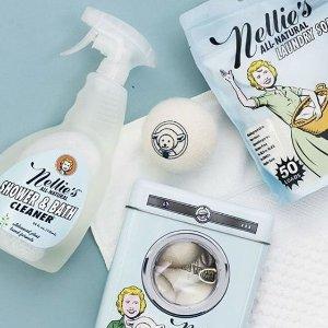 全场8折 低至$5.59Nellies's 全线产品无有害成分添加 收天然配方宝宝洗衣粉