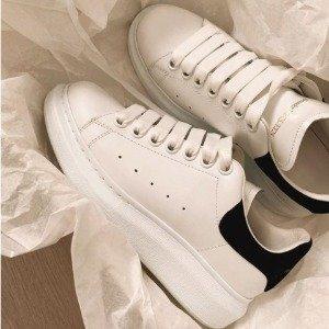 正价8.5折 码齐!Alexander Mcqueen 美鞋热卖 收小白鞋、切尔西靴 显高显瘦神器