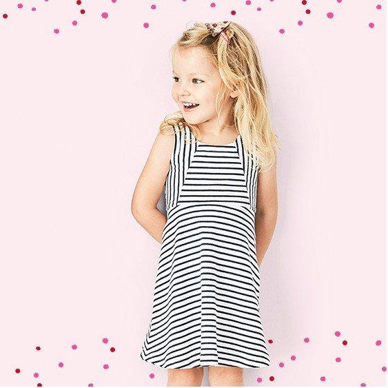 小童条纹连衣裙