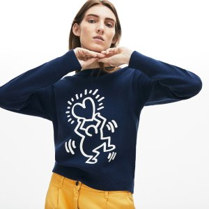 68cb45e1 LacosteWomen's Keith Haring 3D Print Cotton Sweater. $175.00. Lacoste ...