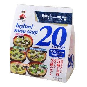 $7.89 可冲20份MIYASAKA JOZO 混合口味低盐即食味增汤 11.82oz
