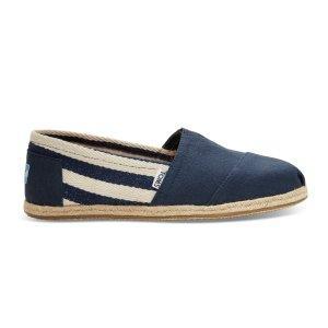 折扣区价格按额外减$15估算蓝色条纹渔夫鞋