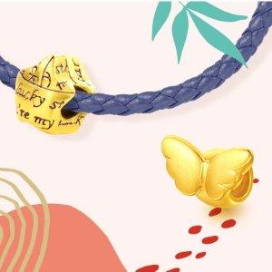新人满额立减 变相9.6折周生生官网 当季新品特促 黄金、铂金首饰、串珠热卖