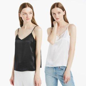 22MM V Neck Silk Camisole 2 Pack Hot Sale On Lilysilk