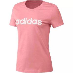 Adidas女式粉色T恤
