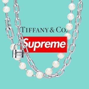 项链、手链和耳钉等都有预告:Supreme & Tiffany & Co 合作联名款珠宝曝光