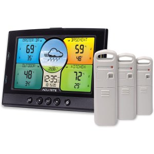 AcuRite 02082M Home Temperature & Humidity Station with 3 Sensors